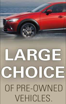 Large choice of pre-owned vehicles